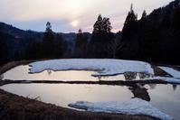 春の夕暮れ - 松之山の四季2