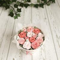 クレイ(粘土)でバラのバケツブーケを作りました - Sweets Studio Floretta* Flower Cake & Sweets Class@SHIGA