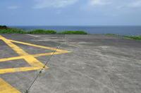 旧ヘリポートと海 - 三宅島風景