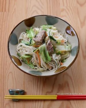 鯖缶★ソーミンチャンプルー(`・ω・´)♪ - **  mana's Kitchen **