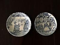 ベルギー製小絵皿26,27 - スペイン・バルセロナ・アンティーク gyu's shop