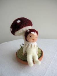 きのこちゃん。 - こひつじ的生活~羊毛フェルトで作る小さな世界