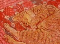 6号猫② - 絵と庭