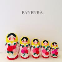 これぞマトリョーシカというマトリョーシカ - フェルト手芸作家「PANENKA」北向邦子「わたしの毎日」