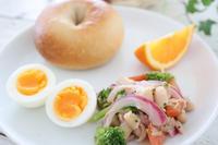 (レシピ)ツナと豆のサラダで朝食プレート - おうちカフェ*hoppe