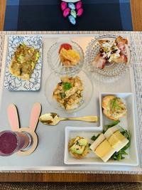 今月の料理教室のメニューの図 - MotoのNY料理教室ライフ