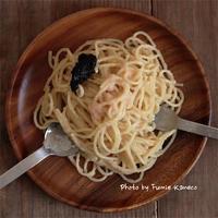 たらこスパゲッティー - ふみえ食堂  - a table to be full of happiness -