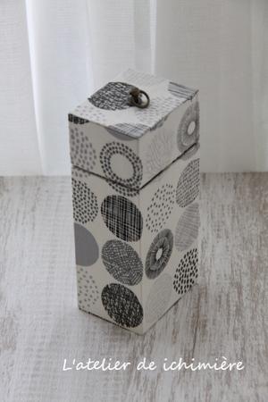 どちらもスリムな箱です 【Apr.21】 - ichimiereカルトナージュと手づくりの時間