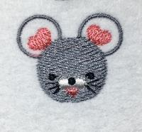 ネズミの刺繍(^^) - ソライロ刺繍