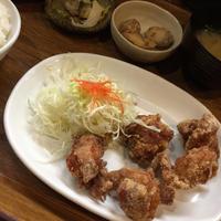 24日 唐揚げ定食@私の食卓 - 香港と黒猫とイズタマアル2