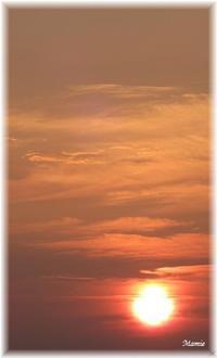 昨日の日没時 - おだやかに たのしく Que Sera Sera