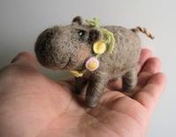 小さなカバさん。 - こひつじ的生活~羊毛フェルトで作る小さな世界