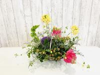 花かごアレンジ☆ - Flower Days ~yucco*のフラワーレッスン&プリザーブドフラワー~