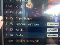 ロンドン1日目 - フィンランドでも筆無精