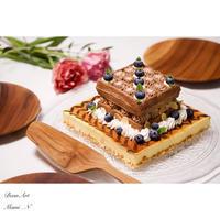ニューヨークチーズケーキ×チョコレートワッフル - BEAN ART Cafe  - Mami . N -