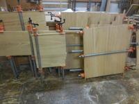 食器棚(カップボード)の接ぎ合わせ。 - 手作り家具工房の記録