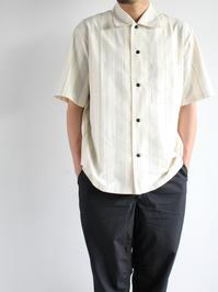 THE HINOKIOrganic Cotton Half Sleeve Shirt / Stripe - 『Bumpkins putting on airs』