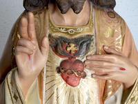 聖心のイエス像  83.5cm グラスアイ  / F733 - Glicinia 古道具店