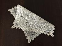 手編みボビンレース装飾ハンカチ158 - スペイン・バルセロナ・アンティーク gyu's shop
