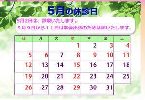 5月の休診日 - 耳鼻科医の診療日記