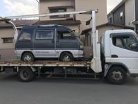 甲府市からレッカー車でパンクした車検の切れた不動車を廃車の引き取りしました。 - 廃車戦隊引き取りレンジャー