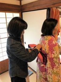 下関毛利邸で観光客のお着物体験☆ - 山口下関市の着付け教室*出張着付け    はまゆうスタイル