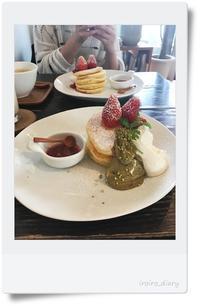 苺とピスタチオのパンケーキ&Tiffanyカフェの下見@表参道♪ - **いろいろ日記**