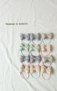 ぷっくりなリボンヘアゴム - 子ども服と大人服 KONO'N