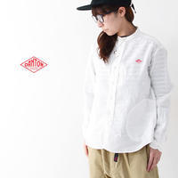 DANTON [ダントン] W's L/S LINEN CLOTH NO COLLAR SHIRTS [JD-3606KLS] LADY'S - refalt blog