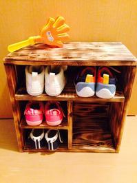 幼児用靴箱 - 物好き親爺のつくりんぼ日記