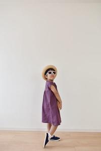 週末は、藤色のワンピースを発送しました♫ - 親子お揃いコーデ服omusubi-five(オムスビファイブ)