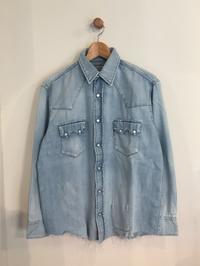 BLUE BLUE / オールドタイム デニムウエスタン リアルユーズドウォッシュシャツ - Safari ブログ