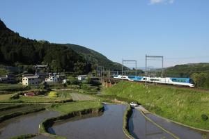 三本松の棚田で近鉄特急撮影 - nishitetsuの鉄道撮影日記