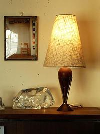 Teak table lamp - hails blog