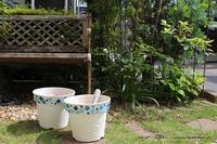 『趣味の園芸』100均鉢植えプランターを漆喰風にリメイク(春の庭) - neige+ 手作りのある暮らし