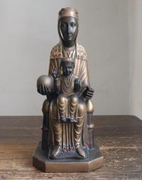 黒いマリアと幼子イエス像 30cm  /G307 - Glicinia 古道具店