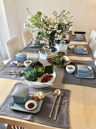我が家の韓国料理教室の様子です - 今日も食べようキムチっ子クラブ (料理研究家 結城奈佳の韓国料理教室)