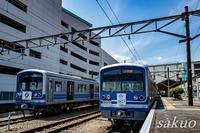 伊豆箱根鉄道大雄山線のイエロー・シャイニング・トレインと令和ヘッドマーク撮影 - sakuoのフォトブログ