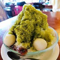 倉敷美観地区「お食事処 カモ井」 - 福岡の抹茶かき氷