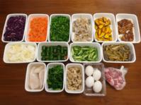 2019/5/6常備菜(鶏肉のマーマレード照り焼きなど) - お弁当と春の空