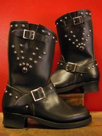 The Groovin High  1950's Style Engineer Boots Studded - ROCK-A-HULA Vintage Clothing Blog