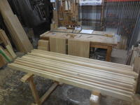食器棚(カップボード)の組手・ホゾ・ホゾ穴加工 - 手作り家具工房の記録