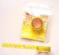 レモンの香り付きマスキングテープ - ダリア日記帳
