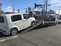 笛吹市から法人名義の故障車をレッカー車で廃車の引き取りしました。 - 廃車戦隊引き取りレンジャー