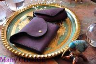 イタリアンレザー・プエブロ・ミニマム財布とキーケース・時を刻む革小物 - 時を刻む革小物 Many CHOICE~ 使い手と共に生きるタンニン鞣しの革