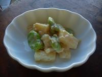 長芋とそら豆の味噌マヨ和え - LEAFLabo