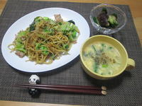 金華ハムスープの素 de 焼きそば & 中華スープ - candy&sarry&・・・2