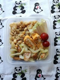 5/8(水)セロリとウインナー炒め弁当 - ぬま食堂
