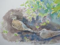 Friends in The garden 2 - miwa-watercolor-garden