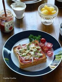 乃が美の「生」食パンでピザトースト♪ - Cache-Cache+